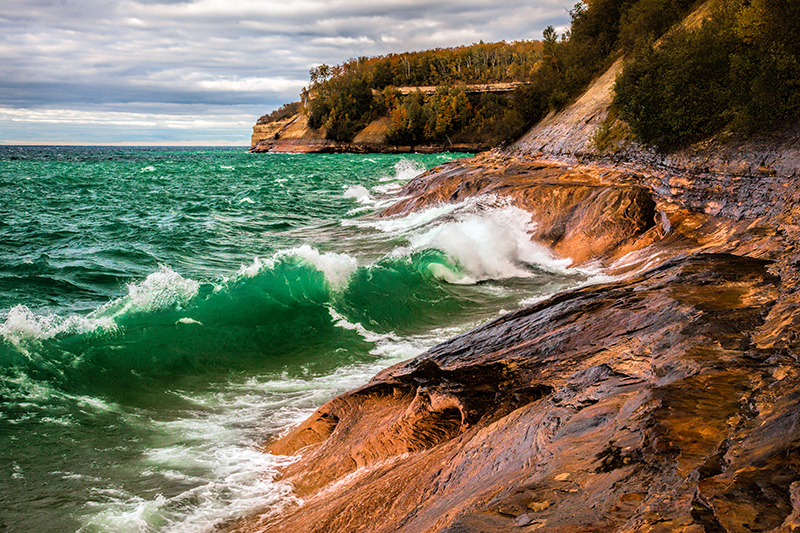 Green Wave - Pictured Rocks